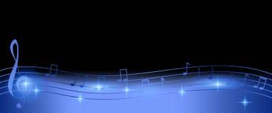 Fondo lucido delle note di musica nella porpora sullo spazio nero della copia royalty illustrazione gratis
