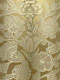 Fondo lujoso de la impresión floral Imagen de archivo