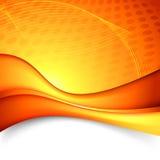 Fondo luminoso arancio di tecnologia dell'onda Fotografia Stock Libera da Diritti