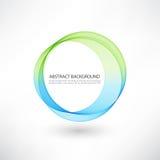 Fondo luminoso astratto del cerchio blu e verde di turbinio Fotografia Stock Libera da Diritti