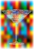 Fondo luminoso astratto del partito con il vetro di vino Fotografia Stock