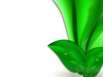 Fondo luminoso astratto di estate con le foglie verdi e le bande verticali verdi Fotografia Stock Libera da Diritti