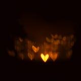Fondo luminoso de los corazones Fotografía de archivo