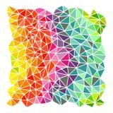 Fondo luminoso dei triangoli dell'arcobaleno Fotografie Stock Libere da Diritti