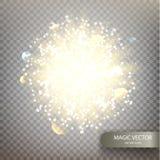 Fondo luminoso del vector mágico Imagen de archivo libre de regalías