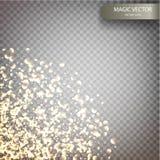 Fondo luminoso del vector mágico Imágenes de archivo libres de regalías