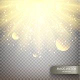 Fondo luminoso del vector mágico Imagen de archivo
