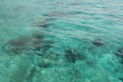 Fondo luminoso dell'acqua di mare di riflessione Immagine Stock Libera da Diritti