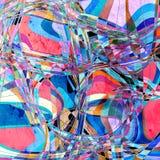 Fondo luminoso dell'acquerello astratto con variopinto differente Fotografia Stock Libera da Diritti