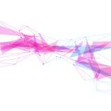 Fondo luminoso dell'onda triangolare moderna astratta Immagine Stock Libera da Diritti