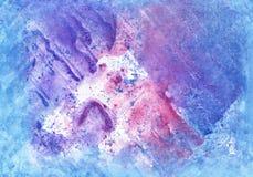 Fondo luminoso della pittura acquerella, illustrazione sveglia per la d Fotografia Stock Libera da Diritti