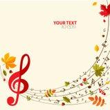 Fondo luminoso di autunno musicale Fotografie Stock