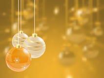 Fondo luminoso di festa di Natale con la palla Fotografie Stock