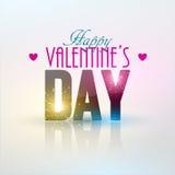 Fondo luminoso di giorno del ` s del biglietto di S. Valentino Fotografia Stock Libera da Diritti
