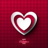 Fondo luminoso di giorno del ` s del biglietto di S. Valentino Immagini Stock Libere da Diritti