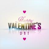 Fondo luminoso di giorno del ` s del biglietto di S. Valentino Fotografie Stock