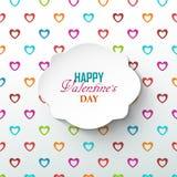 Fondo luminoso di giorno del ` s del biglietto di S. Valentino Immagini Stock