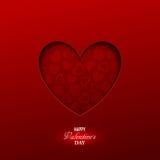 Fondo luminoso di giorno del ` s del biglietto di S. Valentino Fotografie Stock Libere da Diritti