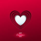 Fondo luminoso di giorno del ` s del biglietto di S. Valentino Fotografia Stock