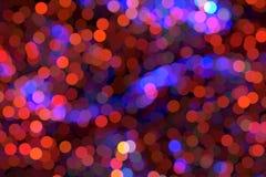 Fondo luminoso di notte con bokeh Bolle colorate luminose fotografia stock libera da diritti