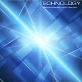Fondo luminoso di tecnologia illustrazione di stock