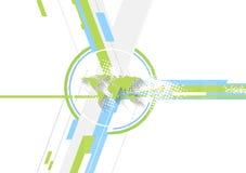 Fondo luminoso di tecnologia piana minima Immagine Stock
