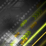 Fondo luminoso di vettore di ciao-tecnologia Fotografie Stock Libere da Diritti