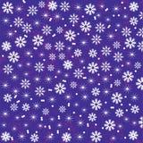 Fondo luminoso e sveglio di Natale con i fiocchi di neve per desig Fotografie Stock Libere da Diritti