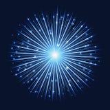Fondo luminoso futuristico astratto della luce stellare Immagini Stock Libere da Diritti