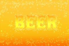 Fondo luminoso identificato birra Immagine Stock Libera da Diritti