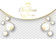 Fondo lussuoso della bagattella di Natale illustrazione di stock