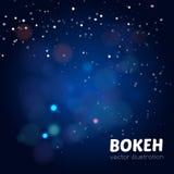 Fondo mágico con el bokeh colorido Fotos de archivo libres de regalías