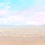 Fondo mágico de la falta de definición de la playa Foto de archivo