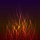 Fondo mágico de la llama. ilustración del vector