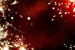 Fondo mágico de la luz del fuego artificial de la Navidad del arte libre illustration