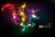 Fondo mágico de la melodía de la música Fotos de archivo libres de regalías