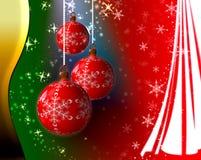 Fondo mágico de la Navidad Imágenes de archivo libres de regalías
