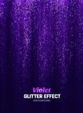 Fondo mágico del brillo en color púrpura Contexto del cartel con los elementos del brillo stock de ilustración