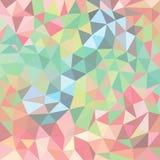 Fondo mágico del extracto del triángulo con puntos culminantes Foto de archivo libre de regalías