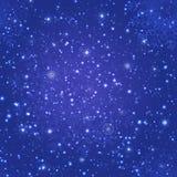 Fondo mágico del invierno Modelo inconsútil de las nevadas Ilustración del vector Fondo hermoso de los copos de nieve Hada imagen de archivo libre de regalías