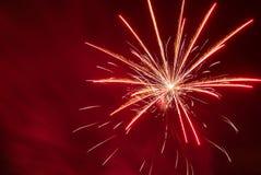 Fondo mágico del nuevo-año de los fuegos artificiales Fotos de archivo libres de regalías