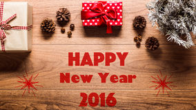 Fondo mágico del tema de la Feliz Año Nuevo Imágenes de archivo libres de regalías