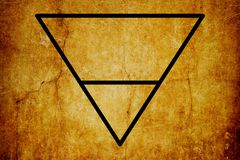 Fondo mágico del vintage de los símbolos del símbolo elemental de la tierra ilustración del vector