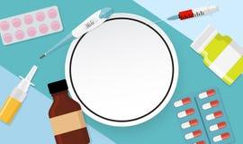 Fondo médico de la salud con el marco Ilustración del vector Fotografía de archivo libre de regalías