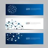Fondo médico de la tecnología de red de la bandera del diseño del vector