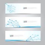 Fondo médico de la tecnología de red de la bandera del diseño del vector Fotografía de archivo libre de regalías