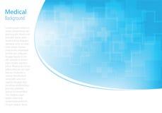 Fondo médico de las moléculas abstractas stock de ilustración