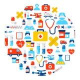 Fondo médico de los iconos Imagenes de archivo