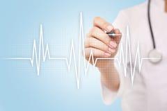Fondo médico del concepto del pulso Medicina y atención sanitaria Foto de archivo