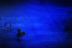 Fondo médico en azul marino fotos de archivo libres de regalías
